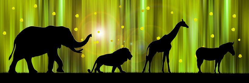 Afrika Animal Parade van Monika Jüngling
