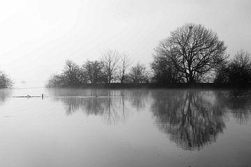 Stilte aan de Waal von Frans van der Ent Fotografie