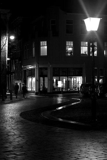 Straat in Dordrecht van Jurjen Biesbroek