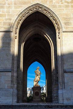 Blick auf den Turm Saint-Jacques in Paris, Frankreich von Rico Ködder