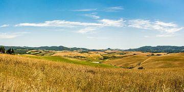 Panorama heuvels Toscane 1 van Kok and Kok