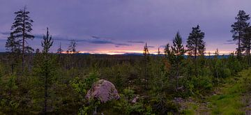 Panorama Idre  tijdens het blauwe uur van Arjen Roos