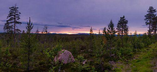 Panorama Idre  tijdens het blauwe uur