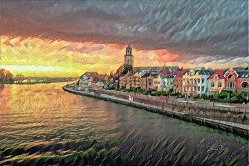 Klassisches Kunstwerk von Deventer aan de IJssel von Slimme Kunst.nl