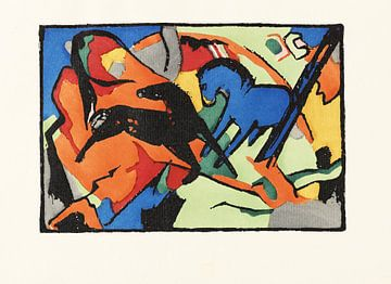 Der blaue Reiter, Franz Marc, 1914 von Atelier Liesjes