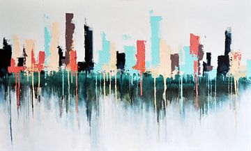 Skyline Gemälde von Maria Kitano