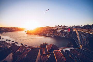 Porto - Panorama au coucher du soleil