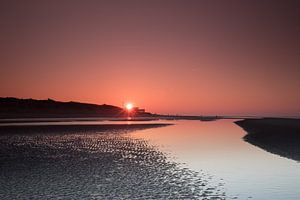 Zonsondergang op het Strand van