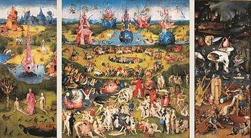Schilderij Tuin der Lusten (volledig drieluik) - Jheronimus Bosch sur Schilderijen Nu