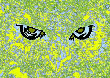 Owl's face #2 van Leopold Brix