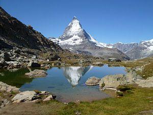 Weerspiegeling van de Matterhorn, Zwitserland