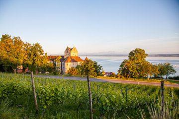 Meersburg und Bodensee am Abend