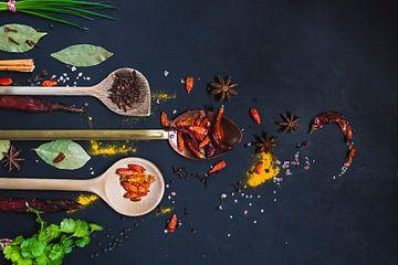 kruiden palet, herbs and spices van Corrine Ponsen