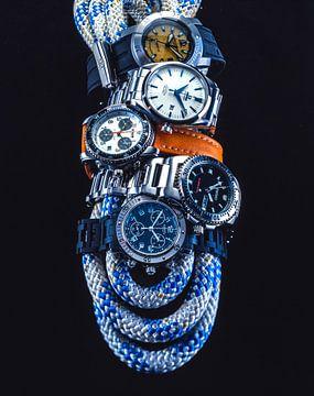 vijf luxe herenhorloges, studio opname von Ruurd Dankloff