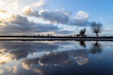 Wolkenspiegelung von Willian Goedhart