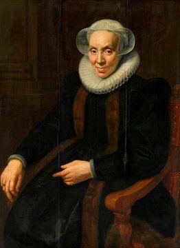 Portrait de Maria van Utrecht, Paulus Moreelse