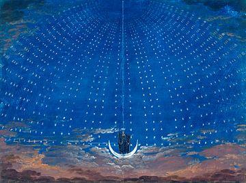 The Magic Flute Opera by Wolfgang Amadeus Mozart, Karl Friedrich Schinkel