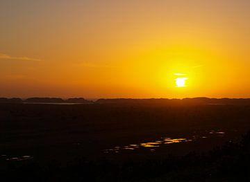 Zonsondergang op Terschelling van Rinke Velds