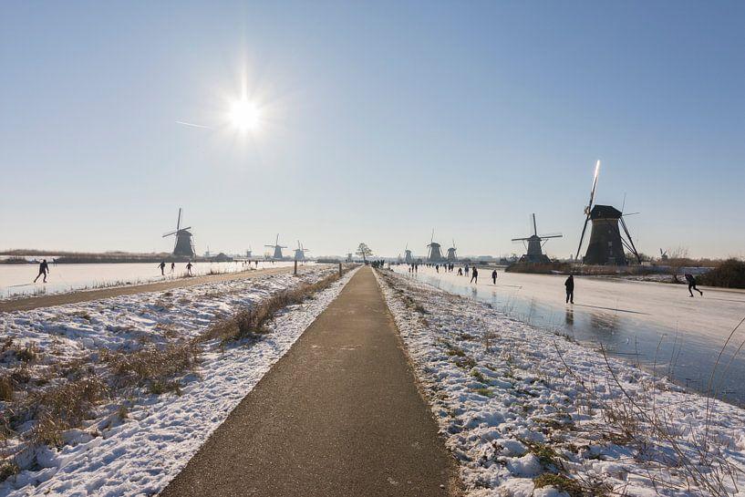 Patinage sur glace à Kinderdijk sur Charlene van Koesveld