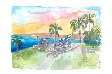 Tobago Fort George mit Kanonen bei Sonnenaufgang von Markus Bleichner
