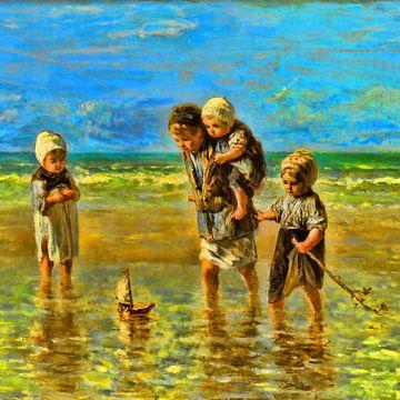 Kinder des Meeres (digital bearbeitet) von Theo van der Genugten