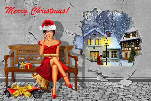 Illusionen von weißer Weihnacht von