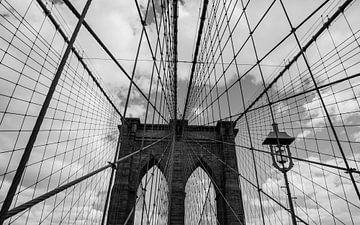 Brooklyn Bridge | New York | Brug | Zwart wit fotografie | Art print van Mascha Boot