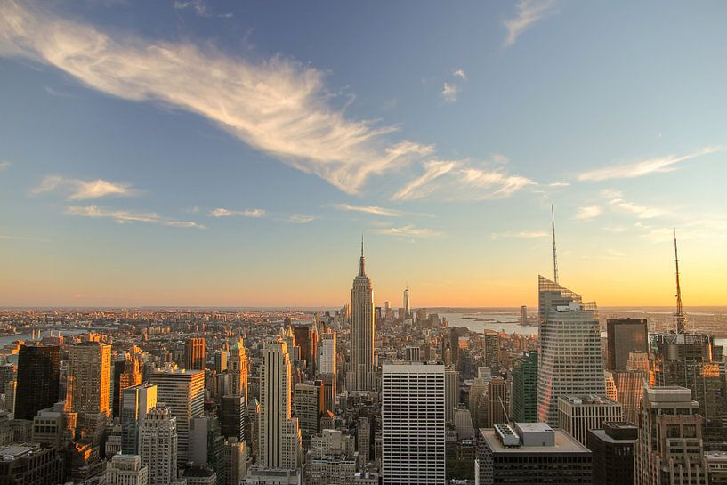 New York Sunset van Bas Rutgers