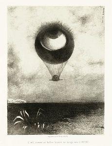 Odilon Redon, To Edgar Poe (Das Auge steigt wie ein seltsamer Ballon in die Unendlichkeit auf) 1882