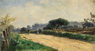 Carlos de Haes-Weg zum Dorf, Ackerlandschaft, Antike Landschaft