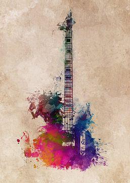 Gitarre 40 Musik Kunst #Gitarre #Musik von JBJart Justyna Jaszke