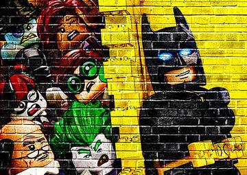 LEGO Batman Wandgraffiti von Bert Hooijer