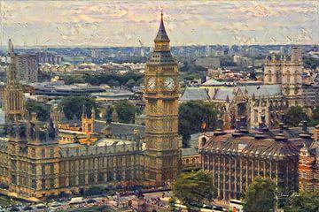 Impressionistisch Schilderij Big Ben Londen in stijl van Renoir