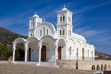 Weiße Kirche auf Paros, Griechenland von Adelheid Smitt