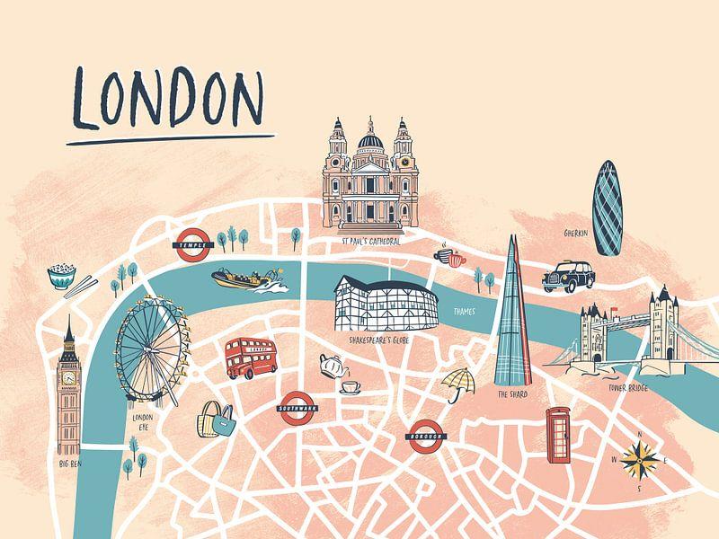 Londoner Stadtplan von Karin van der Vegt