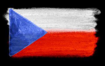 Symbolische Nationalflagge der Tschechischen Republik von Achim Prill