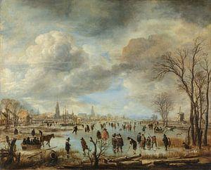 Riviergezicht bij winter, Aert van der Neer