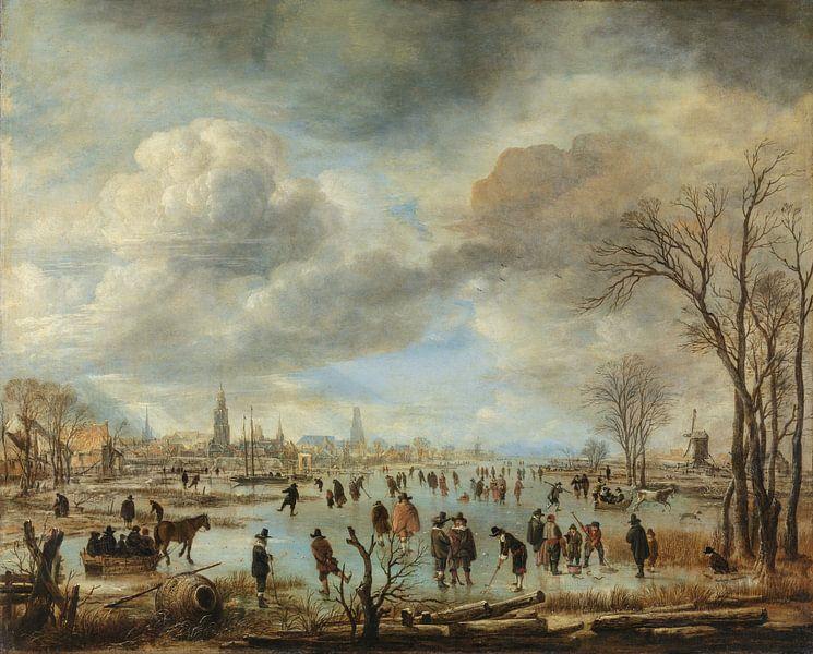 Riviergezicht bij winter, Aert van der Neer van Schilders Gilde