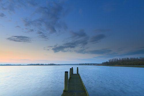 Het Lauwersmeer in de vroege ochtend van