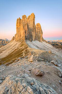 Tre Cime en Paternsattel in Zuid-Tirol van Michael Valjak