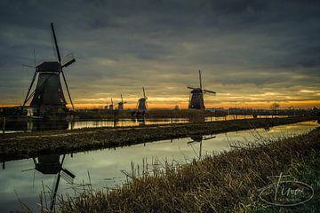 De molens bij Kinderdijk van Tina Linssen