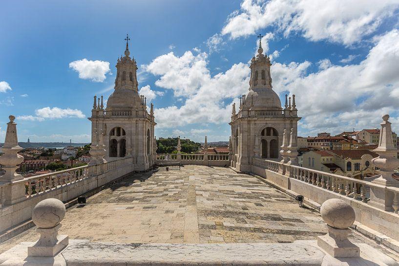 Het klooster São Vicente de Fora in Lissabon in Portugal van MS Fotografie | Marc van der Stelt
