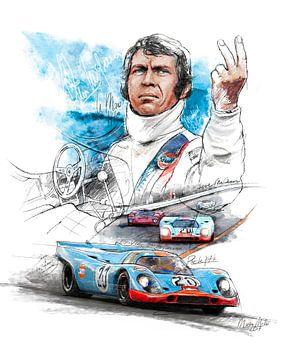 Porsche 917 K - Steve McQueen 'Le Mans' - 1970 von Martin Melis