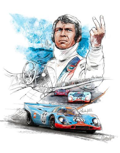 Porsche 917 K - Steve McQueen 'Le Mans' - 1970 van Martin Melis
