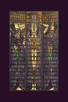 Art Deco glas in lood, Chris Lebeau van Renske Schut