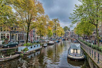 De Spiegelgracht in Amsterdam in de herfst. van