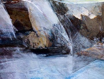 Abstrakte Collage aus Meer, Sturm und Felsen von Paul Nieuwendijk