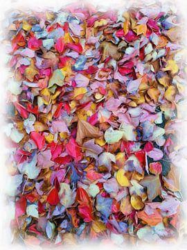 Abstrakte Aquarellmalerei Herbstlaub von Maurice Dawson