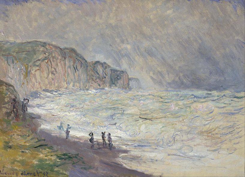 Schweres Meer in Pourville, Claude Monet von The Masters
