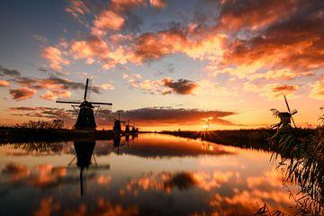 Lever du soleil à Kinderdijk sur Gea Gaetani d'Aragona